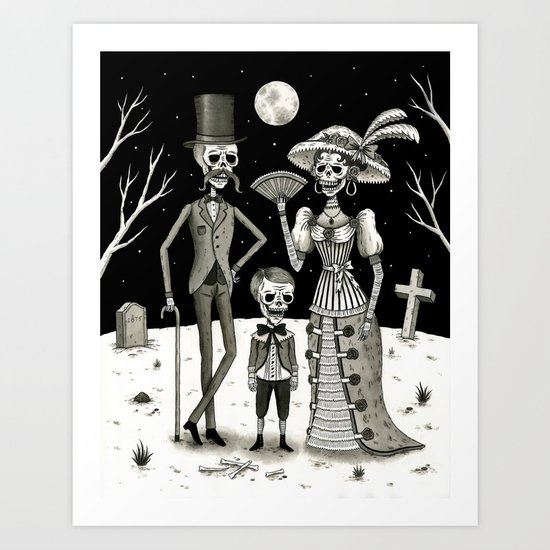 Family Portrait of the Passed Art Print
