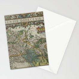 Vintage Map - Ortelius: Theatrum Orbis Terrarum (1606) - Liége, Belgium Stationery Cards