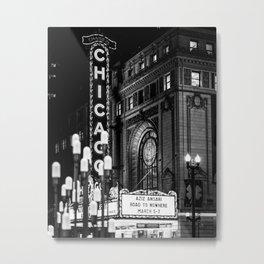 Illuminated Chicago Metal Print