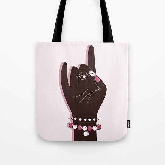 Pinky hand illustration Tote Bag