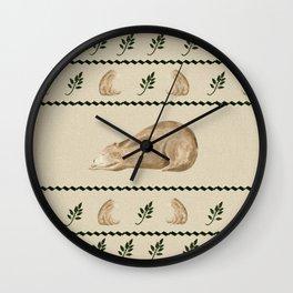 Sleepy time Bear Wall Clock
