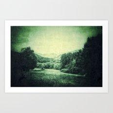 Vintage Landscape  - JUSTART © Art Print
