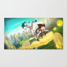 A ride with Son Goku Canvas Print