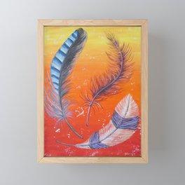 Three Feathers Framed Mini Art Print