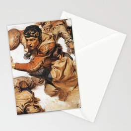 Joseph Christian Leyendecker - Rugby Player, Tackle - Digital Remastered Edition Stationery Cards