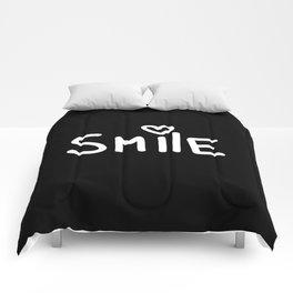 Smile Black Comforters