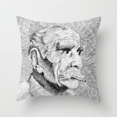 Hombre - black ink Throw Pillow