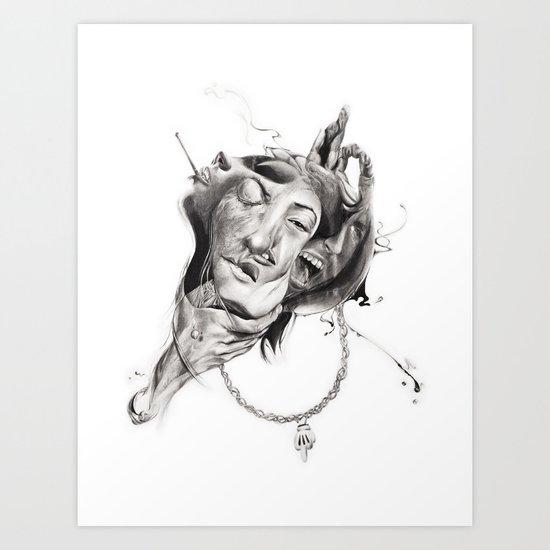 "P.O.A.M (Portrait of a Memory) ""A"" Art Print"