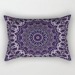 Purple, Gray, and Black Kaleidoscope 2 Rectangular Pillow