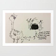 Chickenish Llamas Art Print