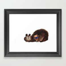 Hello There Messy Bear Framed Art Print
