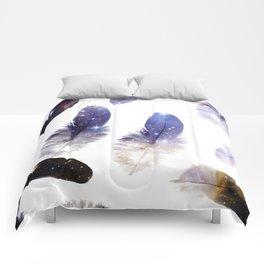 cosmic feathers Comforters