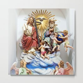 ANGELS, JESUS and GOD - Church of THE GODFATHER Metal Print