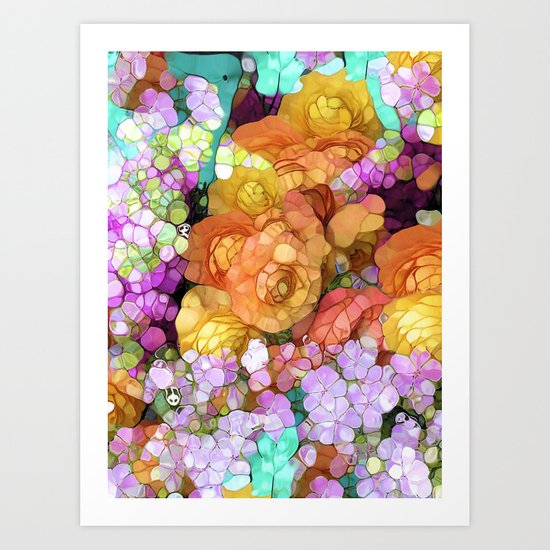 funky floral Art Print