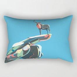 World in your hand - Deer Rectangular Pillow