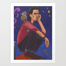 Nick On The Roof Art Print