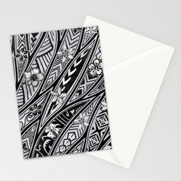 Vintage Hawaiian Tribal Floral Tattoo Tapa Print Stationery Cards