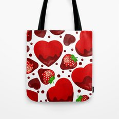 Chocolate heart Tote Bag