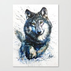 Gray Wolf - Forest King Canvas Print