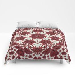 Red Rose Endings Mandala Comforters