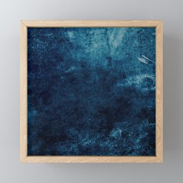 Grunge Blue Framed Mini Art Print
