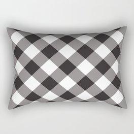 Gingham - Black Rectangular Pillow