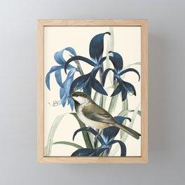 Little Bird and Flowers II Framed Mini Art Print