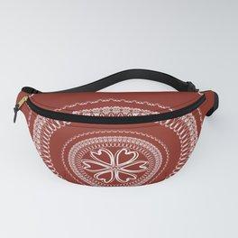 Two Toned Minimual Mandala Design Fanny Pack