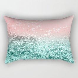 Summer Vibes Glitter #4 #coral #mint #shiny #decor #art #society6 Rectangular Pillow