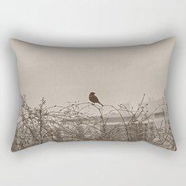Bird On A Tree Limb In Springtime Rectangular Pillow