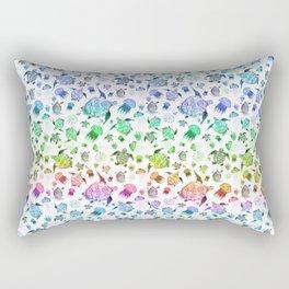 Ocean Life-Rainbow Palette Rectangular Pillow