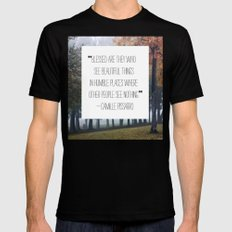 blessed are those who see beautiful things MEDIUM Mens Fitted Tee Black