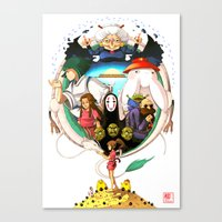 spirited away Canvas Prints featuring Spirited away by Collectif PinUp!