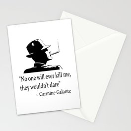 Mobster quote Stationery Cards