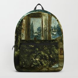"Diego Velázquez ""View of the Garden of the Villa Medici in Rome (The Sleeping Ariadne)"" Backpack"