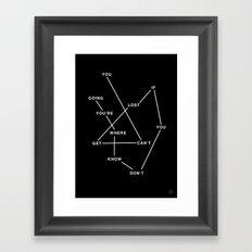 GETLOST Framed Art Print