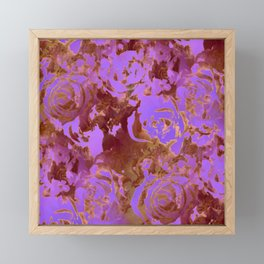 Surreal roses with weird attitude Framed Mini Art Print