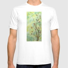Branch with flowers White Mens Fitted Tee MEDIUM