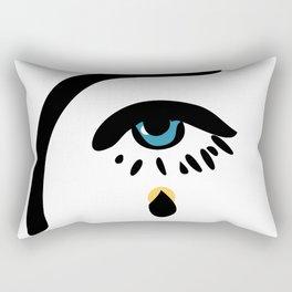 Yellow tear Rectangular Pillow