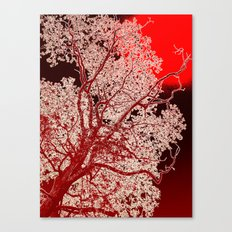 Surreal Red Harmony Canvas Print