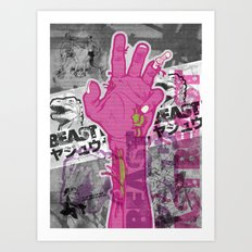 Zombie Reach Art Print