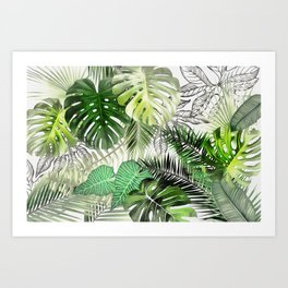 Tropical Foliage 01 Art Print
