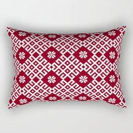 Latvian Pattern Rectangular Pillow