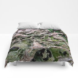 Life on a Fallen Tree Comforters