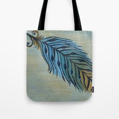 Tri-Color Feather Tote Bag