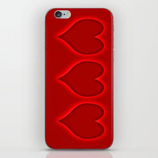 Love hearts 2 iPhone & iPod Skin