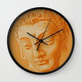 Siddharta Gautama oranje Wall Clock