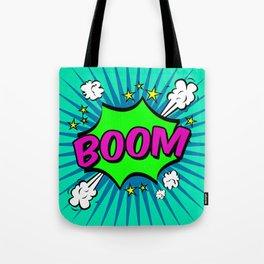 Boom Blue Boom Tote Bag