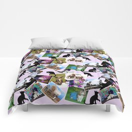 Collage of  Cat Photographs Comforters