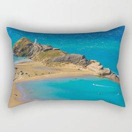 White lighthouse, location - Castlepoint, New Zealand Rectangular Pillow